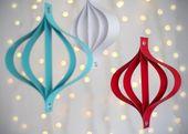 15 coole DIY Papier Weihnachtsbaum Ornamente