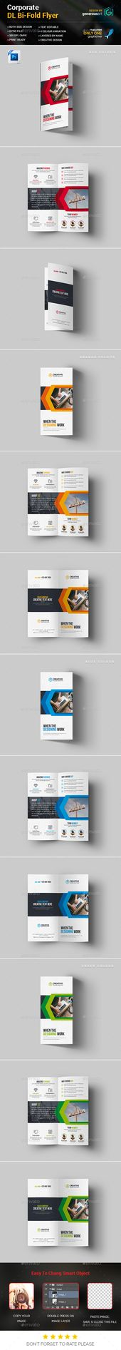 Business DL BiFold Flyers #business card #standard  • Download here → graphi…
