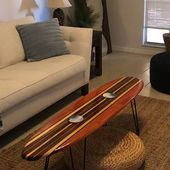 Decorative Wooden Surfboard Wall Art / Modern Art / Hawaiian | Etsy  – surfboard art