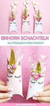 Einhornbox aus Klopapierrollen – DIY Geschenkverpackung   – Advent. DIY
