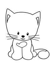 Kedi Boyama Sayfasi Okuloncesitr Preschool Boyama Kedi