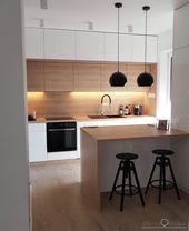 53 Gorgeous Modern Scandinavian Kitchen Ideas – #s…