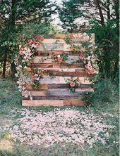 Arrière plan cérémonie laïque bois et fleurs