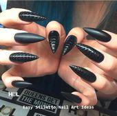 30 große Stiletto Nail Art Design-Ideen #nail #naildesigns #design # Ideas #nail …   – Einzigartige Nageldesigns