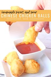 eb207f62fc15b9ff4333ee793e12b444 Homemade Sweet and Sour Chinese Chicken Balls