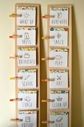 DIY Daily Routine Chart for Kids – Staying Organized