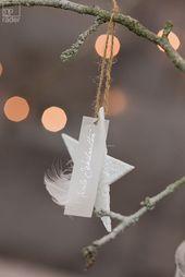 "Porcelain star ""Merry Christmas"""