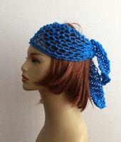 Hippie Headband Crochet Women Hair Wrap Boho Headband, Hair Accessories, Hair Wrap, Yoga, Beach, Gypsy Spirit, Bandana, Wrap – 1960's Hippie Bohemian Fashion