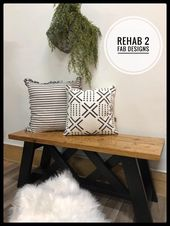 Kundenspezifische Bank von Rehab 2 Fab Designs