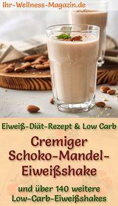 Schoko-Mandel-Eiweißshake – Low-Carb-Eiweiß-Diät-Rezept