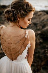 "Wedding ""Luna"" Hair Accessory, Beaded Headband, Bridal Headband, Crystal Halo, Boho Bridal Crown"