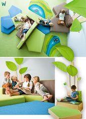 Das größte Sofa der Welt! Zusammen mit Weichschaumplattformen bildet es eine …   – Education Design Ideas