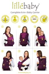 Baby Carrier Lillebaby complete 6-in-1 baby carrier. 360 degree carrying positions (front/hip...