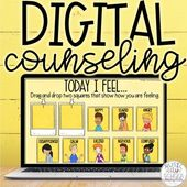 Digital Counseling Feelings Strategies Check-In, Google Slides Distance Learning