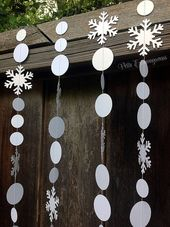 Gadgets much like Snowflake/ Frozen Paper Garland on Etsy