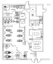 Beauty Salon Floor Plan Design Layout 1700 Square Foot Floor Plan Design Beauty Salon Design Salon Interior Design