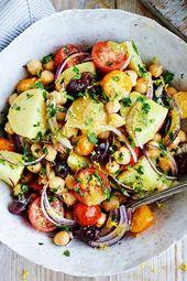 Kartoffelsalat griechischer Art mit Zitronendressing