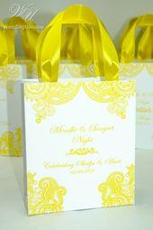 Mehendi design gift bagswith custom names