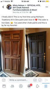 I Scrubbed The Door With Klean Strip Liquid Sandpaper It Is A Deglosser That Cleans And Painted Furniture Cabinets Heirloom Traditions Tall Cabinet Storage