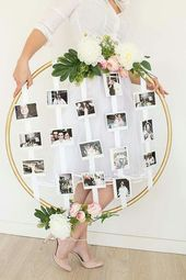 vintage wedding decor photo frame idea