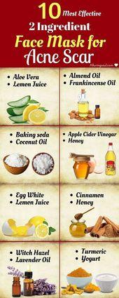 10 Most Effective 2 Ingredient Face Mask für Aknenarbe