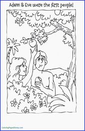 Coloring Pages People for Adults Unique Adam and Eve Coloring Page