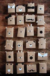 Baby Cards DIY Adventskalender Tiere im Wald