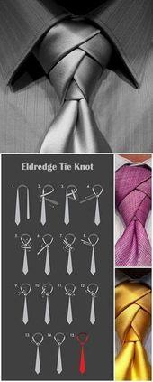 Ich liebe es, eine Krawatte für einen Mann zu binden … Neue Art … jemand zieht einen Anzug an