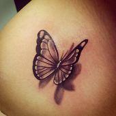 Tattoo Schmetterling Motiv 3D