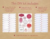 PRINTABLE Valentines Day Love Notes to My Man 365 messages jar quotes, gift for him, v-day Birthday