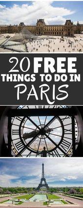 20 kostenlose Aktivitäten in Paris