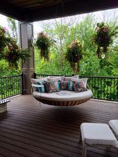 Außenräume 5: Terrasse mit Schaukel A sehr ange