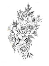 Blumen-Tattoo-Design   – T A T T O O S  &  P I E R C I N G S – #BlumenTattooDesi…  Tattoo #flowertattoos – flower tattoos designs