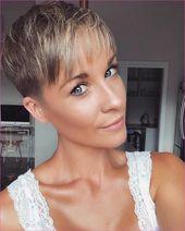Stilvolle 20 Süße Kurze Pixie-Frisuren