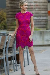 Love Blooms Magenta Lace Dress