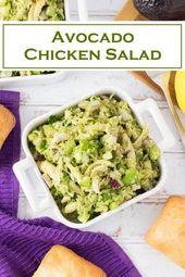 Avocado-Hühnersalat   – Chicken Recipes – #AvocadoHühnersalat #Chicken #Recipe… – Avocados