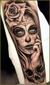 Elegante Feiere Leben und Tod mit diesen Tattoos des Tages welcher Toten – # beeindruckend # …