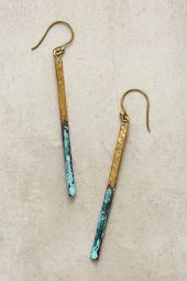 Slide View: 1: Linear Drop Earrings – * if * I pierced my ears …