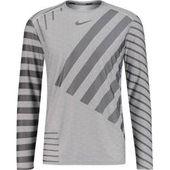 Nike Herren Running Shirt Langarm Tech Knit Cool, Größe S in Grau NikeNike