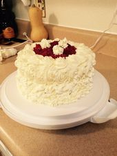My daughters cake for her 10the birthday.  White and red velvet cake layers with…