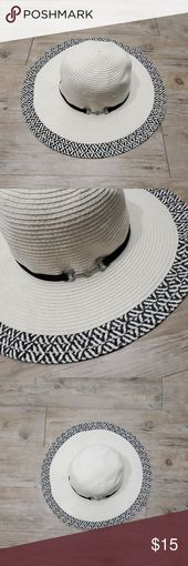 White and black straw hat ❤ Nice off white and black chic hat. Perfect for a b… – My Posh Picks