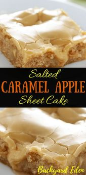 Receta de pastel de hoja de manzana con caramelo salado   – Rezepte