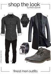 Casual Herren-Outfit mit Teilen von Fossil, Bugatti, XIANGUO, Vogstyle und Am