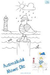 Ausmalbild Vogel Mowe Ole Icedrake Blog Ausmalbilder Vogel Ausmalen Ausmalbilder Kinder