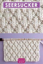 Seersucker Stitch (Knitting Pattern)