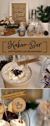 Kakao-Bar: Heißer Kakao zum Aufwärmen