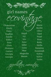 Babynamen einzigartig ungewöhnlich 33 EcoVintage Mädchennamen: Flora, Lillie, June   – Baby Quotes