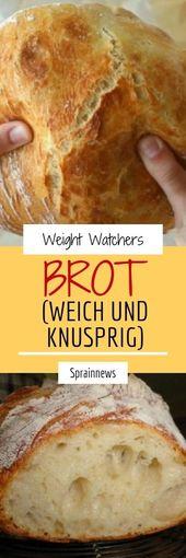 Advertisement Brot (weich und knusprig) Zutaten: 500 g Weizenmehl Type 405 1/2 Würfel Hefe oder 1 Pck. Trockenhefe 1/2 TL Honig 330 ml Wasser, lauwar… – backen