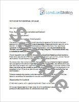 NonRenewal Of Lease Letter  LandlordstationCom  Nonrenewal Of