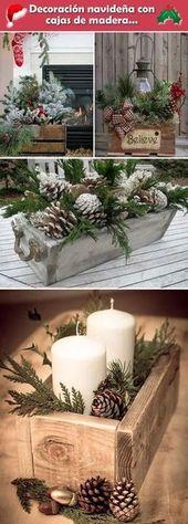Décorations de Noël de ferme Cônes de pin 39 Idées   – Holidayz